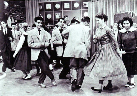 Scene from Dick Clark's American Bandstand.