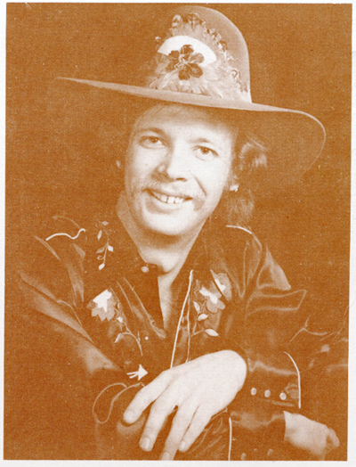 Tim O'Reilly, bass player for Gary Burgess - back cover photo from 'Hillsides & Honkytonks' LP
