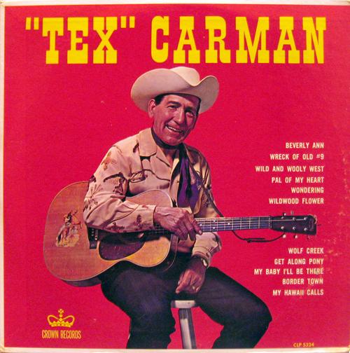 självbetitlade Tex Carman skivomslag