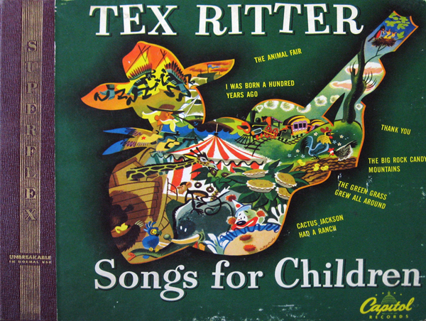 Album cover of Tex Ritter Songs for Children, 78rpm album set