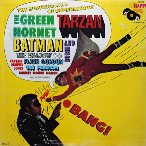 LP cover art of the Super-Duper's Super Record of Super Heroes